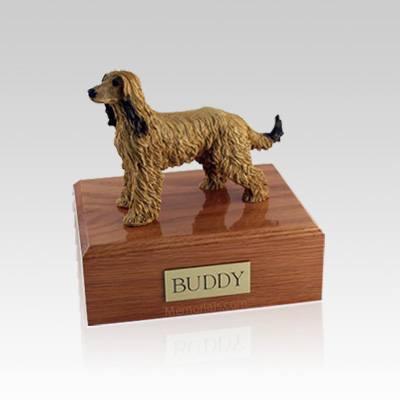 Afghan Hound Small Dog Urn