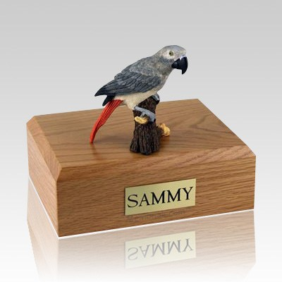 African Gray Parrot X Large Bird Cremation Urn