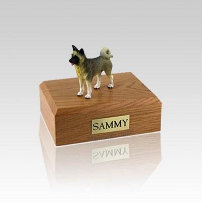 Akita Gray Small Dog Urn