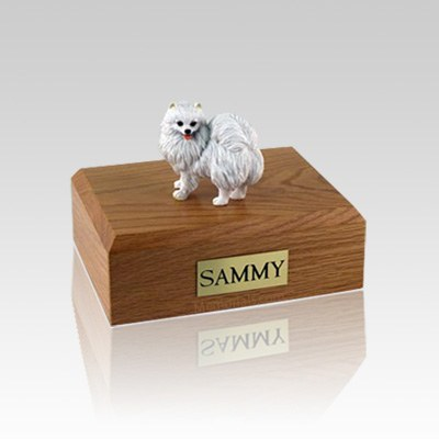 American Eskimo Miniature Medium Dog Urn