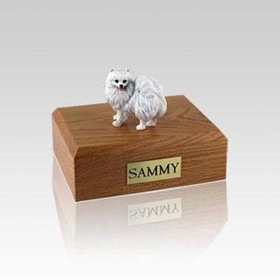 American Eskimo Miniature Small Dog Urn