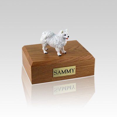 American Eskimo Small Dog Urn