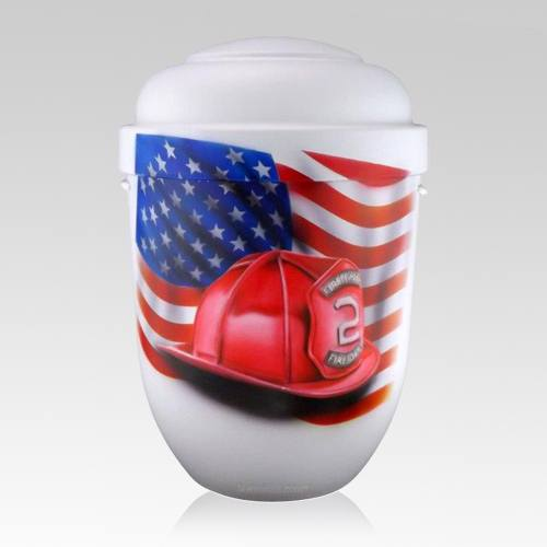 Firefighter Biodegradable Urn