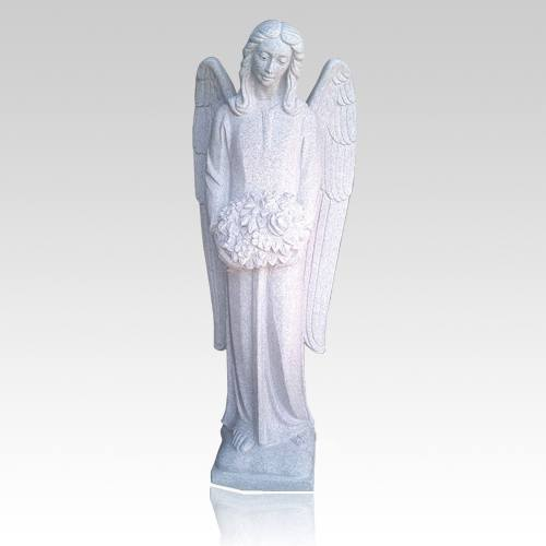 Angel of Flowers Granite Statue