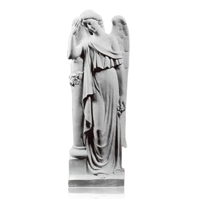 Angel with Column Large Marble Statues