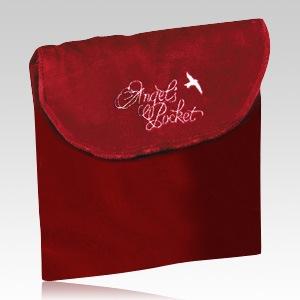 Angel Burgundy Cremation & Burial Pockets