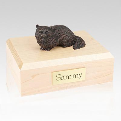 Angora Bronze Cat Cremation Urns