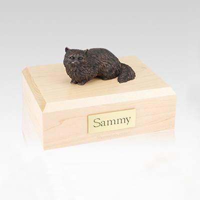 Angora Bronze Medium Cat Cremation Urn