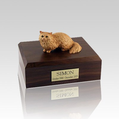 Angora Brown Small Cat Cremation Urn