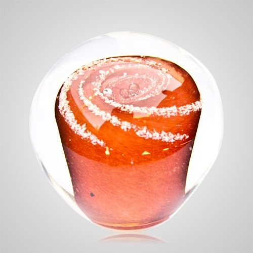 Apricot Cremation Glass Weight