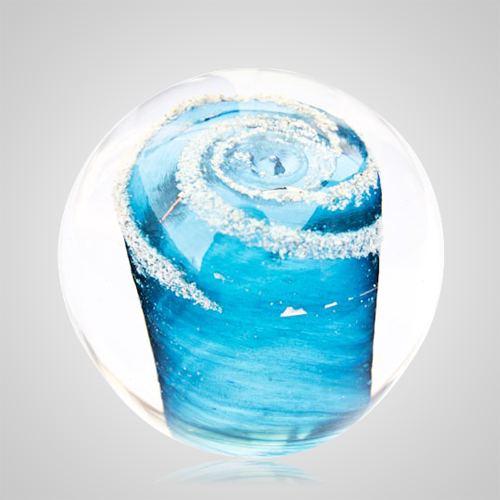 Aqua Cremation Glass Weight