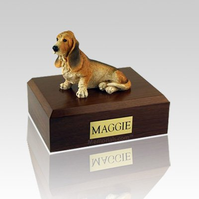 Basset Hound Large Dog Urn