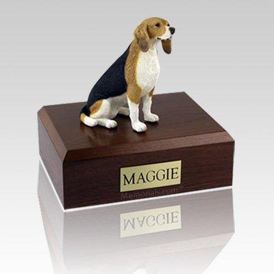Beagle Sitting Large Dog Urn