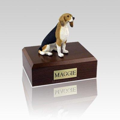 Beagle Sitting Small Dog Urn