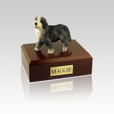 Bearded Collie Small Dog Urn