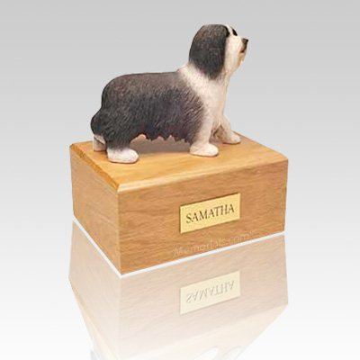 Bearded Collie Standing Large Dog Urn