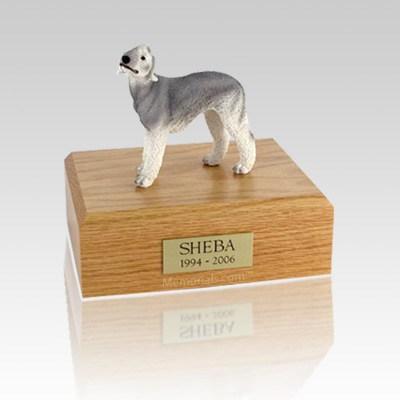 Bedlington Terrier Gray Medium Dog Urn
