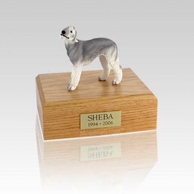 Bedlington Terrier Gray Small Dog Urn