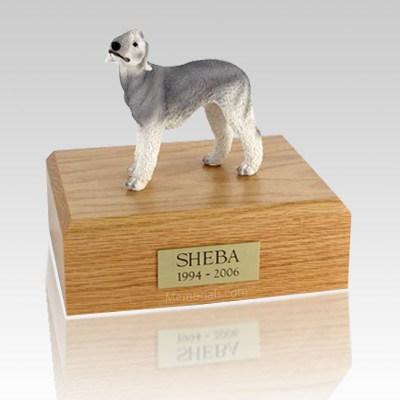 Bedlington Terrier Gray X Large Dog Urn