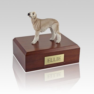 Bedlington Terrier Tan Large Dog Urn