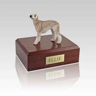 Bedlington Terrier Tan Medium Dog Urn