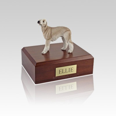 Bedlington Terrier Tan Small Dog Urn