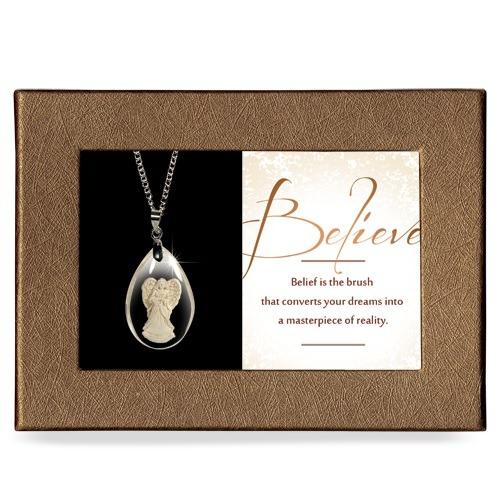 Believe Gift Boxed Angel Pendant