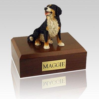 Bernese Mountain Sitting X Large Dog Urn