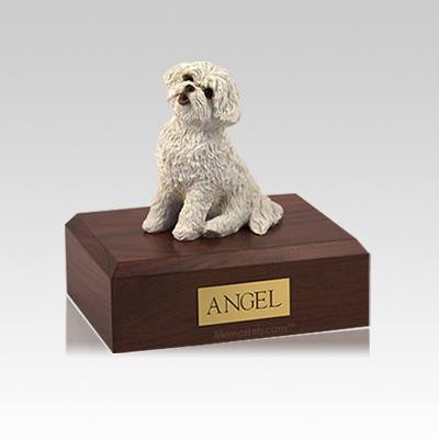 Bichon Frise Small Dog Urn