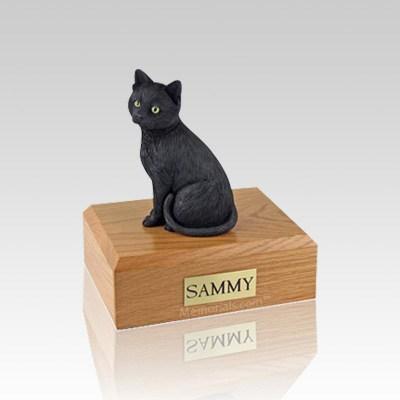 Black Cat Medium Cremation Urn