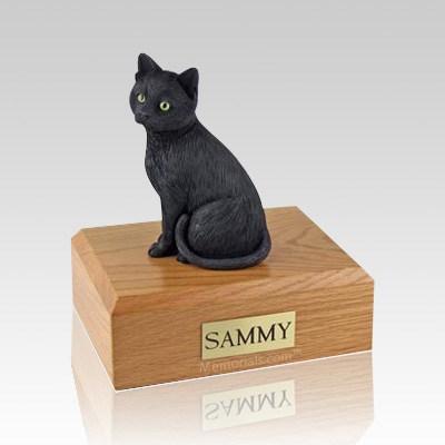 Black Cat X Large Cremation Urn