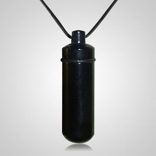 Black Cremation Pendant