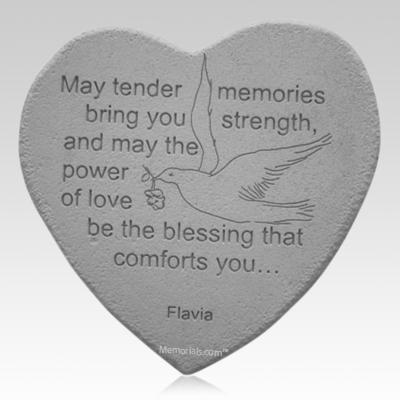 Blessing Dove Heart Stone