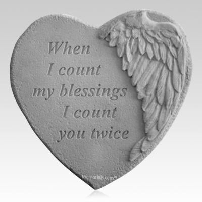 Blessings Angel Heart Stone