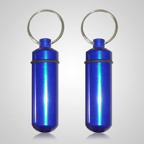 Blue Cremation Keychains