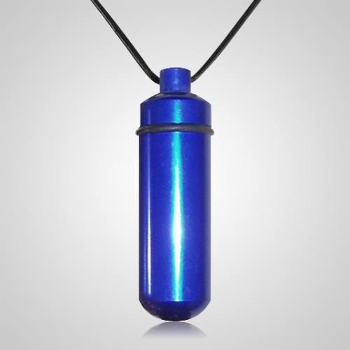 Blue Cremation Pendant