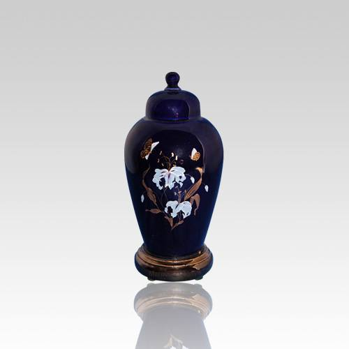 Orchid Blue Ceramic Keepsake Urn