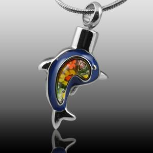 Blue Dolphin Cremation Jewelry