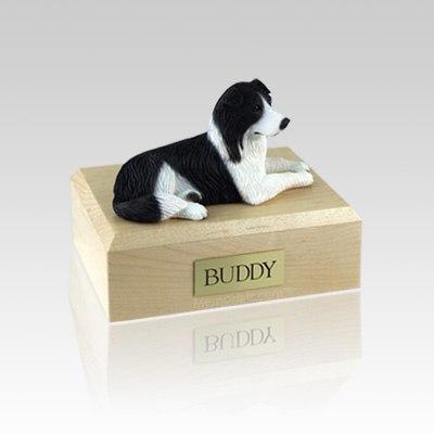 Border Collie Resting Medium Dog Urn