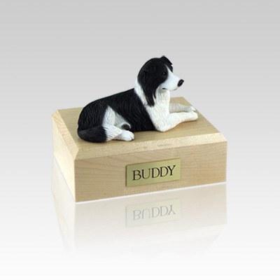 Border Collie Resting Small Dog Urn