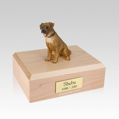 Border Terrier Sitting Medium Dog Urn