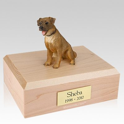Border Terrier Sitting X Large Dog Urn