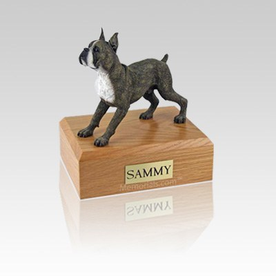 Boxer Brindle Standing Small Dog Urn
