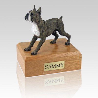 Boxer Brindle Standing X Large Dog Urn