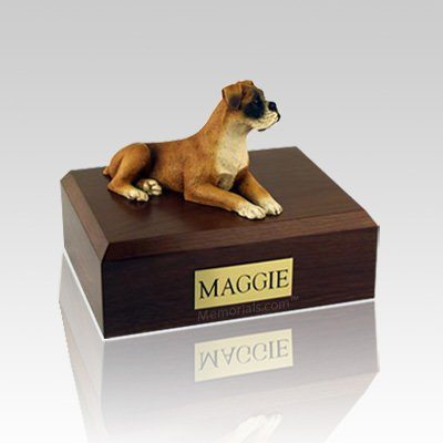 Boxer Ears Down Large Dog Urn