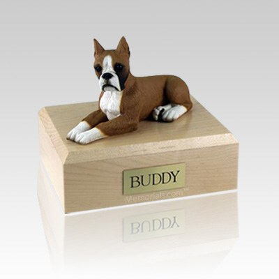 Boxer Fawn Ears Up Large Dog Urn
