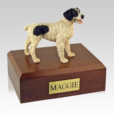 Brittany Black Large Dog Urn