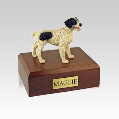Brittany Black Small Dog Urn