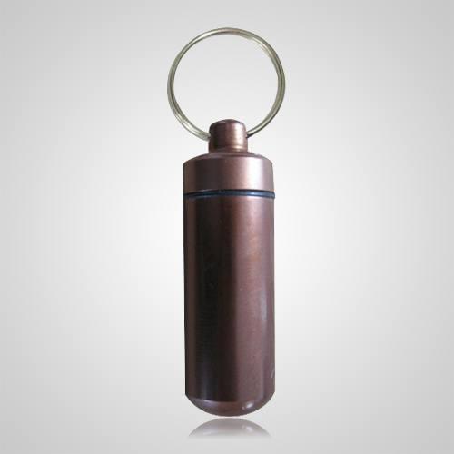 Brown Cremation Keychain