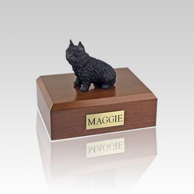 Brussels Griffon Black Small Dog Urn